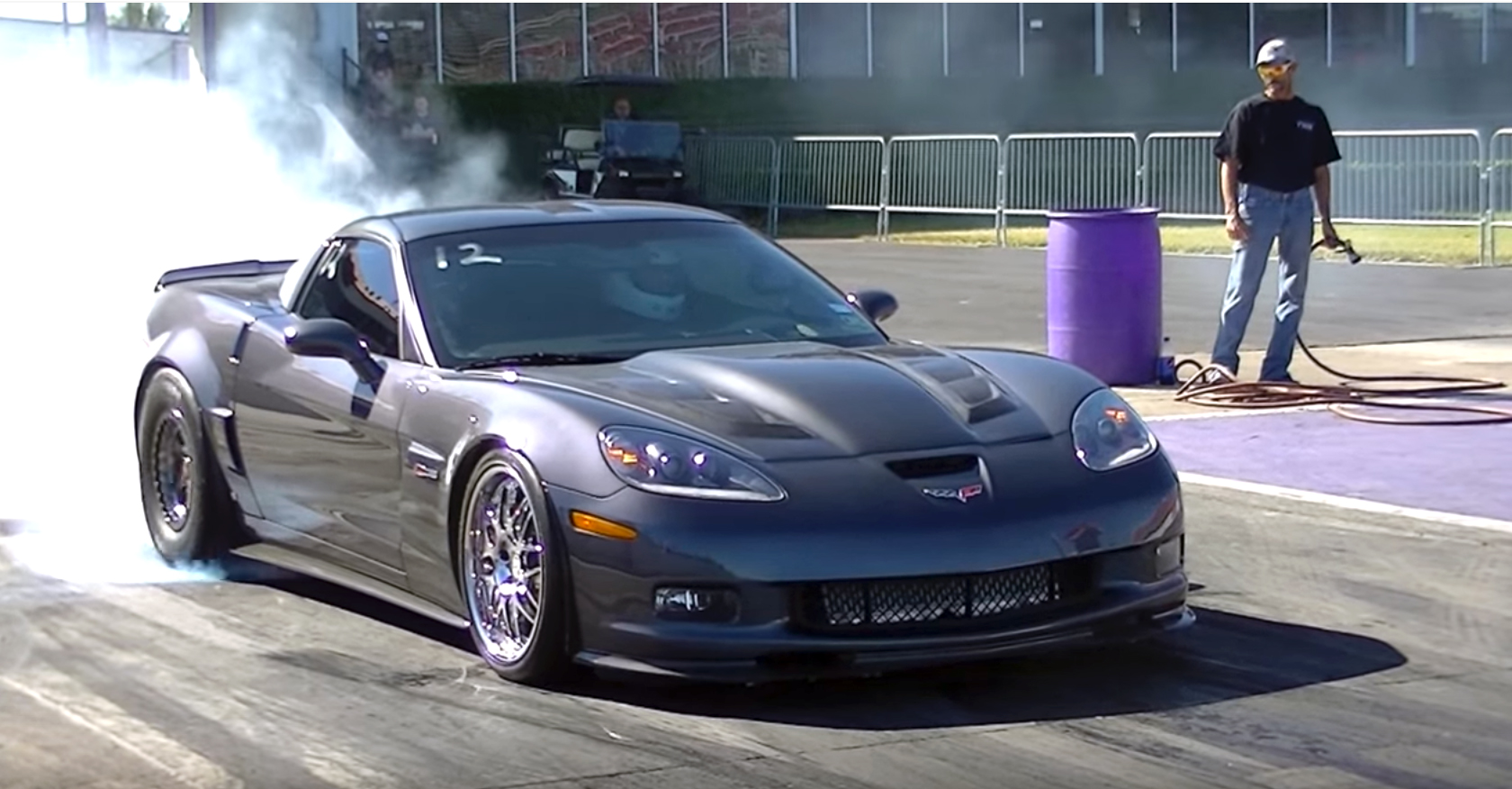 Twin Turbo Corvette Z06 Demolishes Royal Purple Raceway