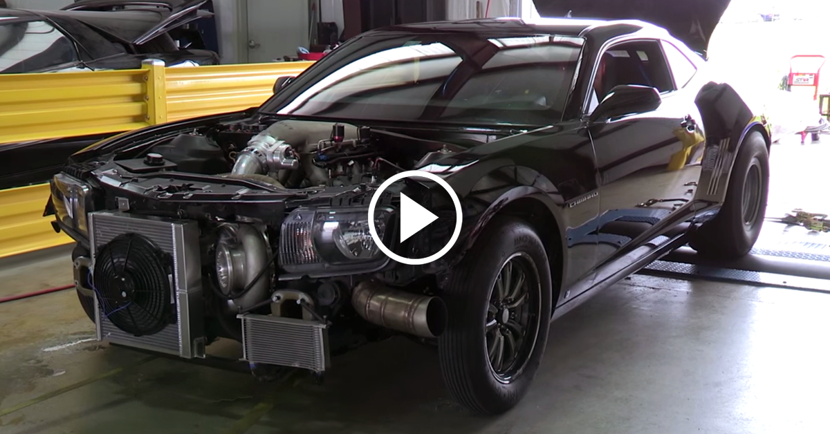 Reaper Camaro Nearly Loses It On The Dyno Vettetv