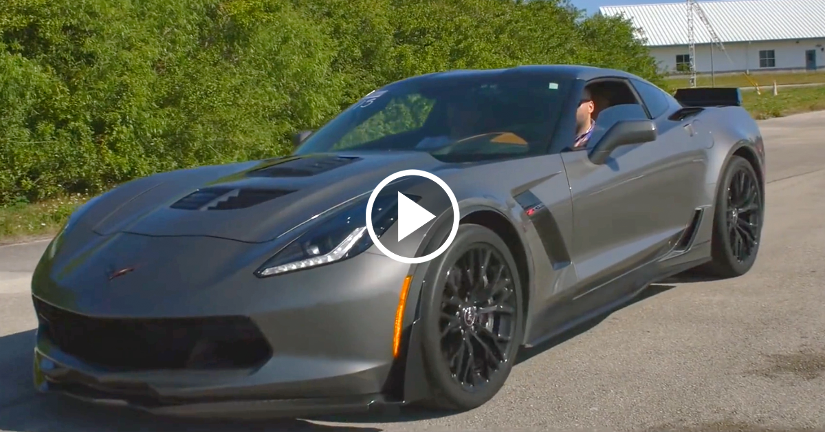 Callaway Corvette Z06 Storms The Standing Mile Vettetv
