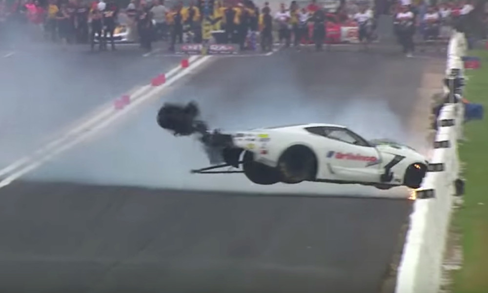 Pro Mod Corvette Crashes In Spectacular Fashion Vettetv