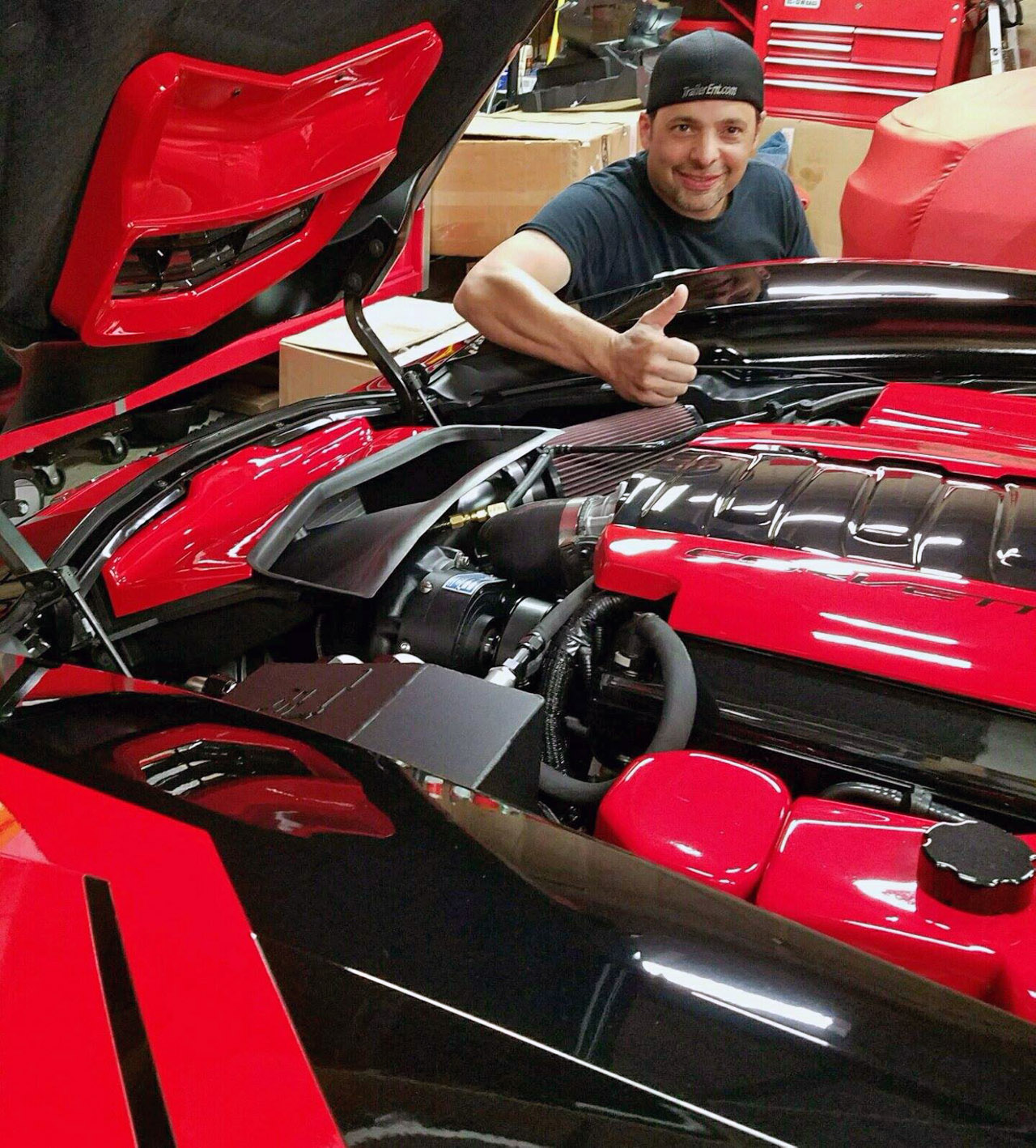 Paul and his monster Grand Sport C7!
