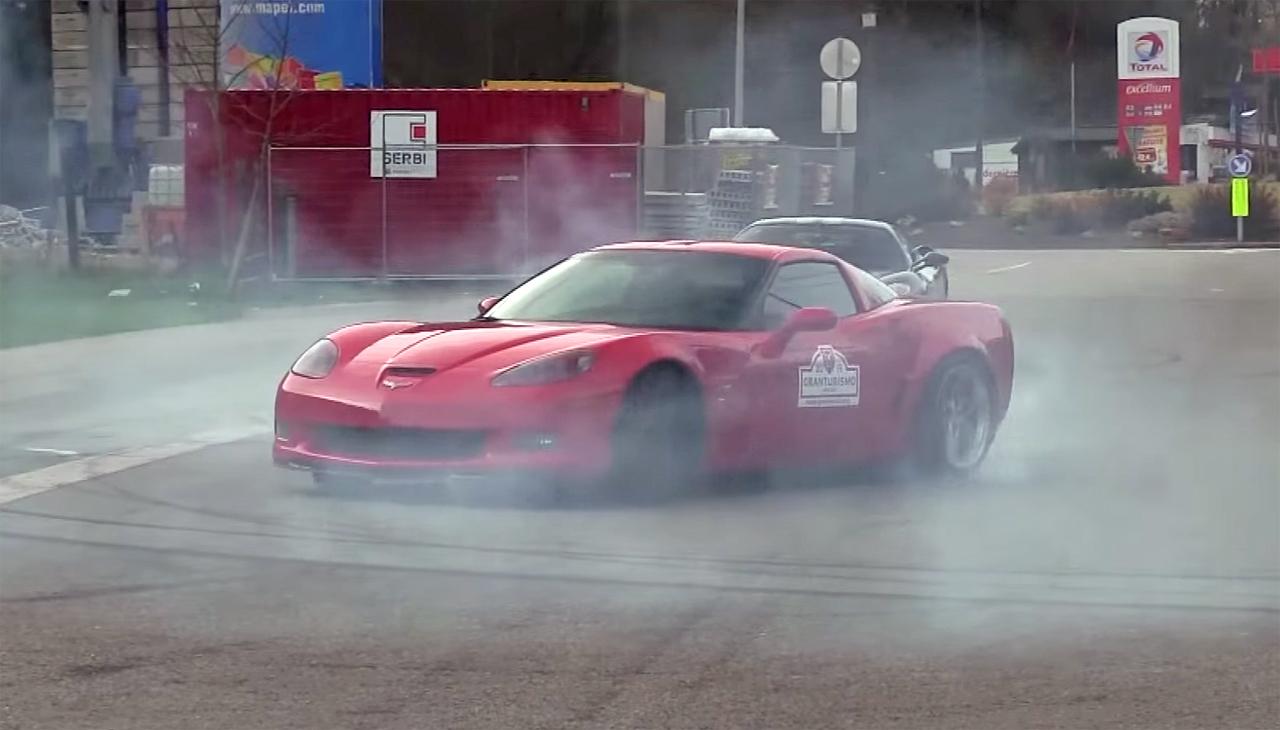 Crazy Corvette Donuts