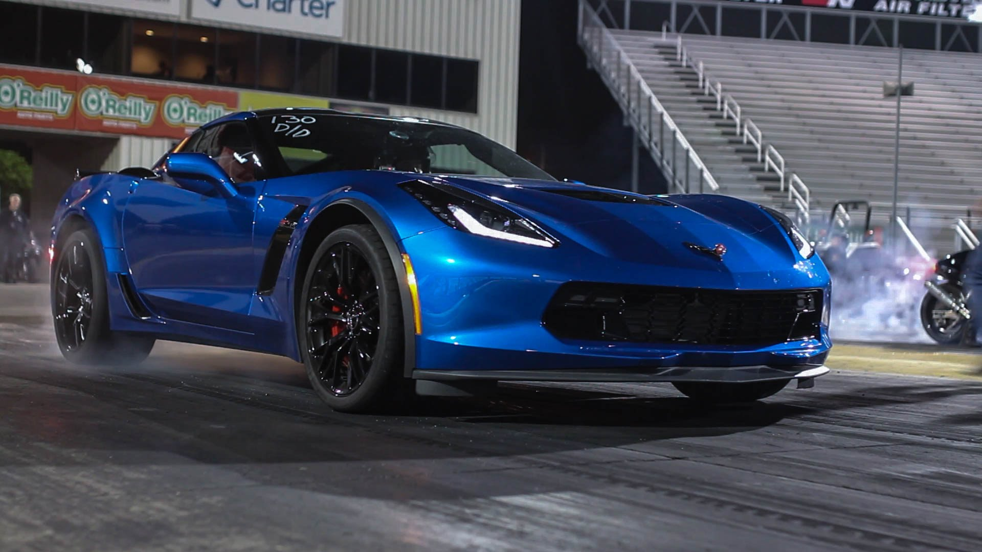 Lady Driven: Stock C7 Corvette Z06 Throws Down 10's All Night Along