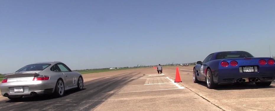 C5 Corvette  Z06 burnout and run