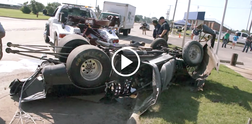 C4 Corvette Dragster Crashes Hard On The Street Vettetv