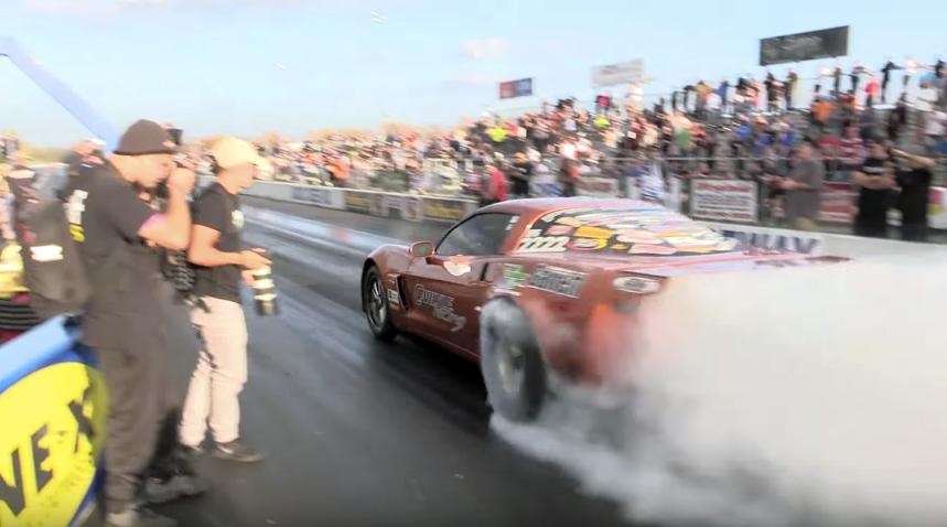 6-Second Corvette Half Track Wheelie, Traps 220mph