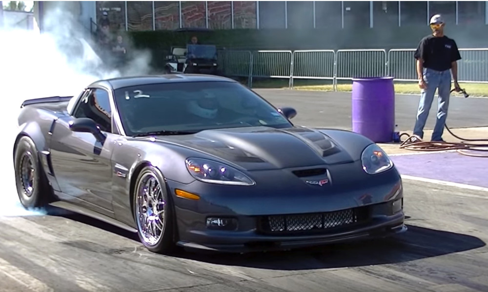 Twin Turbo Corvette Z06 Demolishes Royal Purple Raceway Vettetv