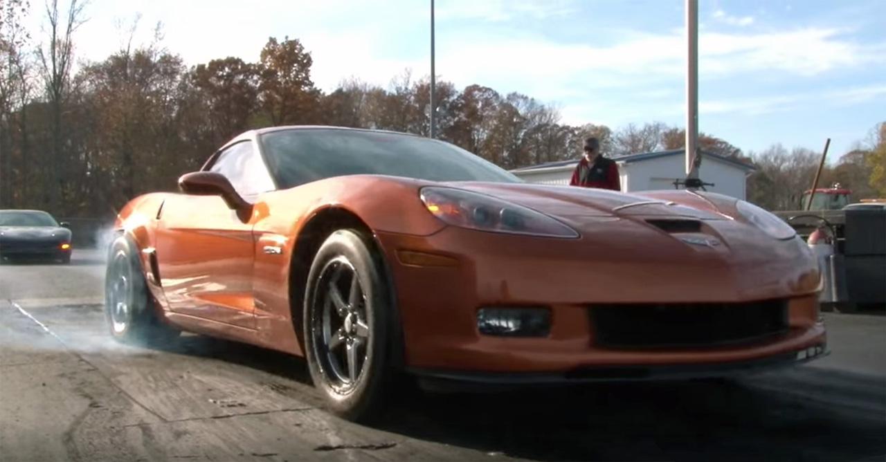 Z06 Corvette Carrys the Wheels to 30 feet runs a 9.46
