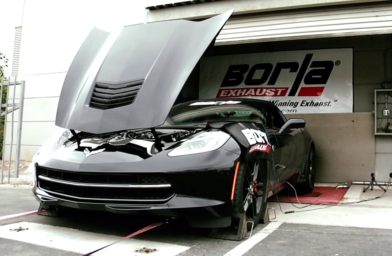 Screamin' Dyno of a C7 Corvette Stingray with Borla Headers & Exhaust