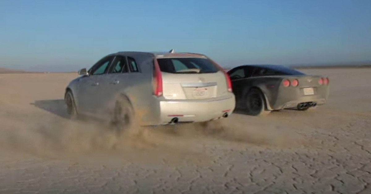 cts-v wagon vs c6 corvette