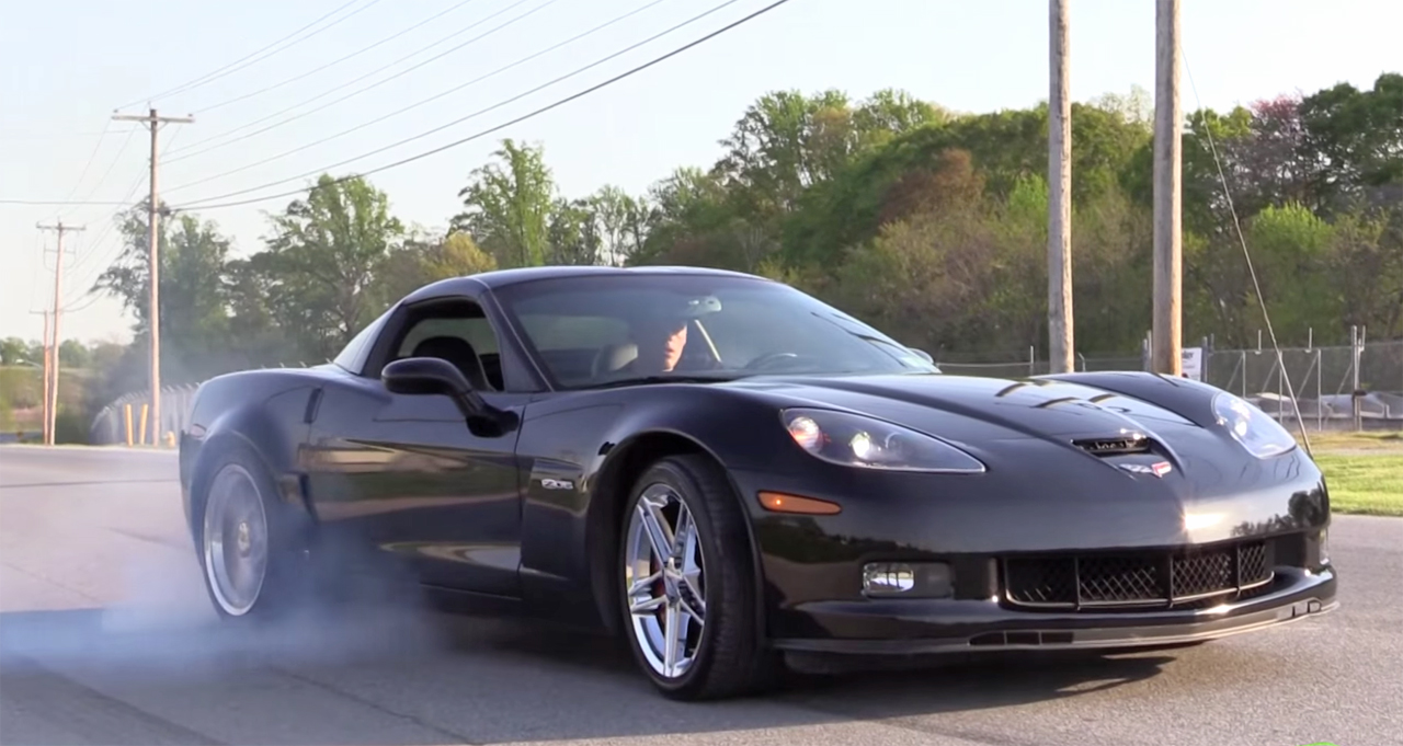 Learn How To Do a Burnout In a Corvette Z06