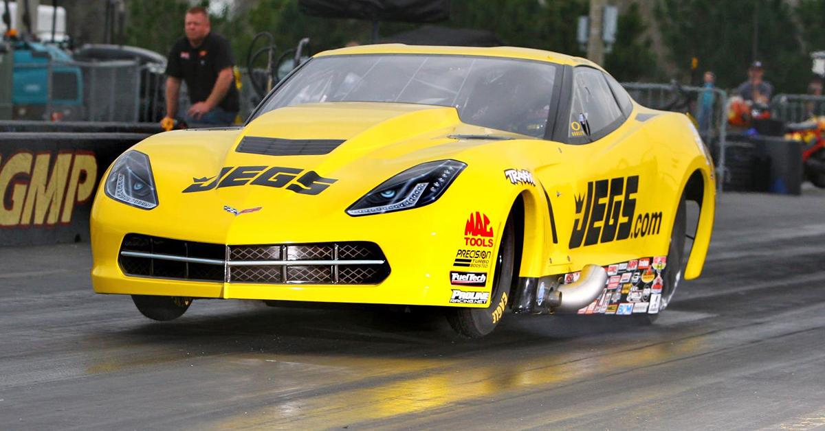 Troy Coughlin Pro Mod Corvette Launch